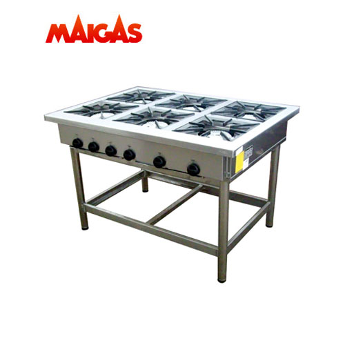 Anafe 6 Platos 35x35 cms. Maigas