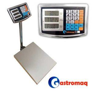 Balanza Digital 1000 kg. Acero con Visor Aéreo GASTROMAQ