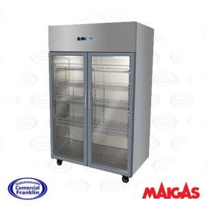 Congelador Industrial 1000 Lts. 2 puertas de Vidrio (0ºC a -15ºC)