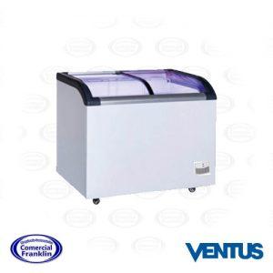 Congelador 220 Litros Vidrio Curvo Ventus