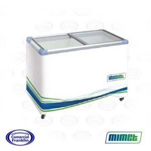 Congeladora 350 Lts Tapa Vidrio Mimet
