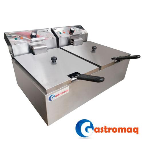 Freidora Eléctrica 2 Depósitos GASTROMAQ