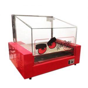 Roller de Hot Dog 11 Rodillos con Cúpula de Vidrio