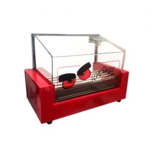 Roller de Hot Dog 5 Rodillos con Cúpula de Vidrio