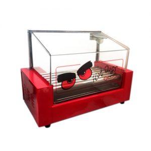 Roller de Hot Dog 7 Rodillos con Cúpula de Vidrio