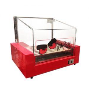 Roller de Hot Dog 9 Rodillos con Cúpula de Vidrio