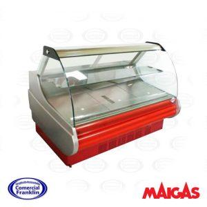 Vitrina Refrigerada 1,5 mts. Apertura Frontal Color Rojo Maigas